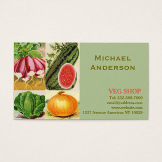 Farming agriculture and veg shop business card