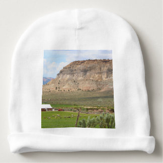 Farming country and hills, southern Utah Baby Beanie