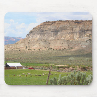 Farming country and hills, southern Utah Mouse Pad