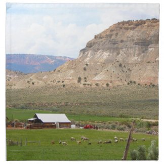 Farming country and hills, southern Utah Napkin
