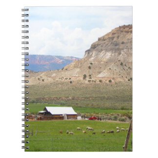 Farming country and hills, southern Utah Notebook