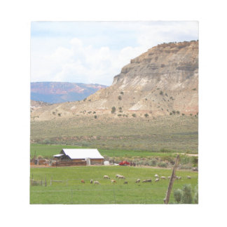 Farming country and hills, southern Utah Notepad