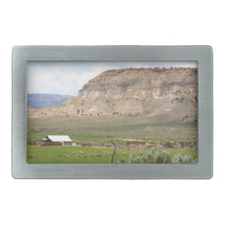 Farming country and hills, southern Utah Rectangular Belt Buckles