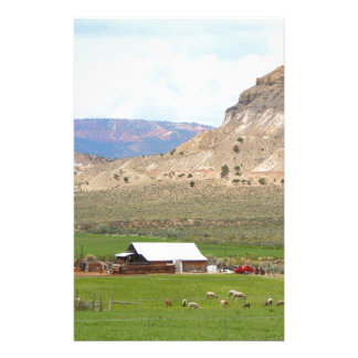 Farming country and hills, southern Utah Stationery