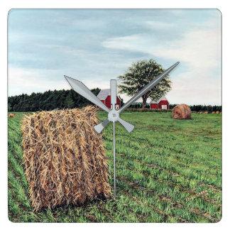 Farming Hay Bales Wall Clock
