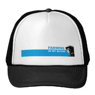 Farming in my blood, gift for a farmer or rancher mesh hat
