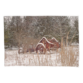 Farming in the snow pillow case