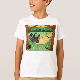 Farming is hard work-kids T-shirt-Stephen Huneck T-Shirt