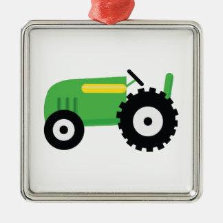 Farming Tractor Metal Ornament