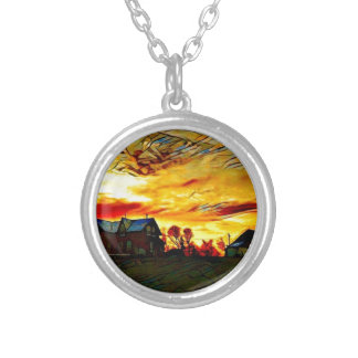 Farmstead Sunset Silver Plated Necklace