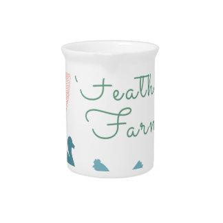 FarmTransparentFair Feather Farm Logo Pitcher