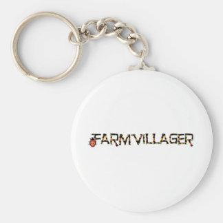 farmvillager stuff basic round button key ring