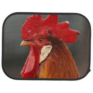 Farmyard Domestic Rooster Car Mat