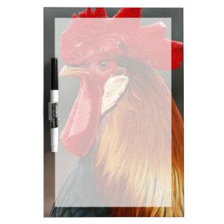 Farmyard Domestic Rooster Dry Erase White Board