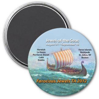 FAROCIOUS JEWELS TRANS ATLANTIC FRIDGE MAGNET AUG