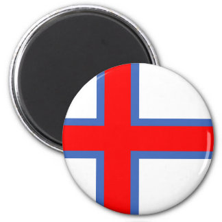 faroe island country flag long symbol magnet