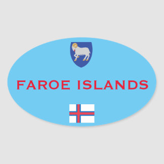 Faroe Island Euro-Style Oval Ticker Oval Sticker