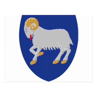Faroe Islands (Denmark) Coat of Arms Postcard