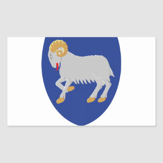 Faroe Islands (Denmark) Coat of Arms Rectangular Sticker