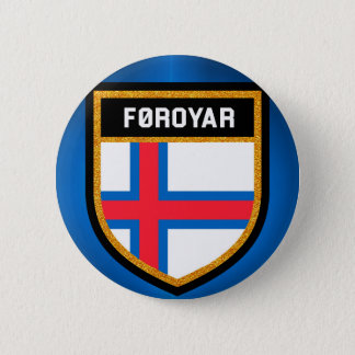 Faroe Islands Flag 6 Cm Round Badge