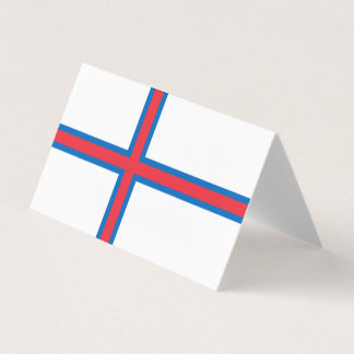 Faroe Islands Flag Card