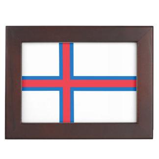 Faroe Islands Flag Keepsake Box