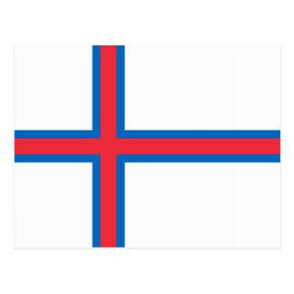 Faroe Islands Flag Postcard