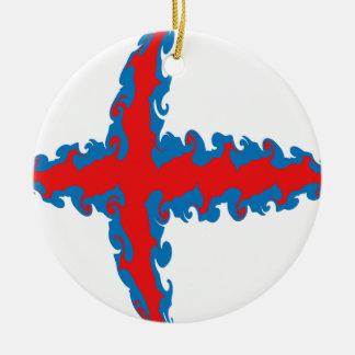 Faroe Islands Gnarly Flag Christmas Ornaments