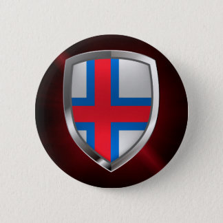 Faroe Islands  Metallic Emblem 6 Cm Round Badge