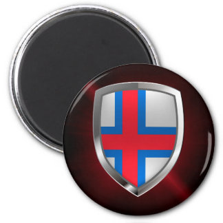 Faroe Islands  Metallic Emblem Magnet