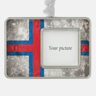 Faroe Islands Silver Plated Framed Ornament