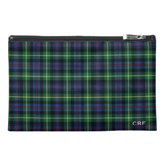Farquharson clan Tartan Monogram Travel Accessory Bag