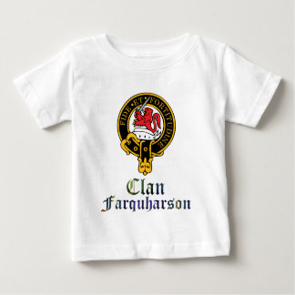 farquharson scotch crest and tartan clan name baby T-Shirt