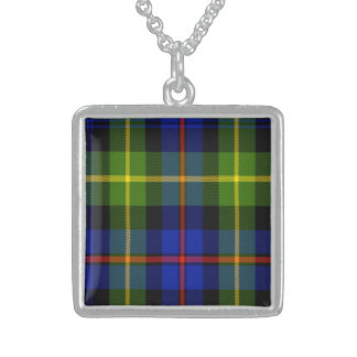 Farquharson Scottish Tartan Sterling Silver Necklace