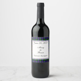 Farquharson Scottish Wedding Wine Label
