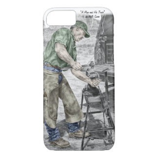 Farrier Blacksmith Using Anvil iPhone 8/7 Case