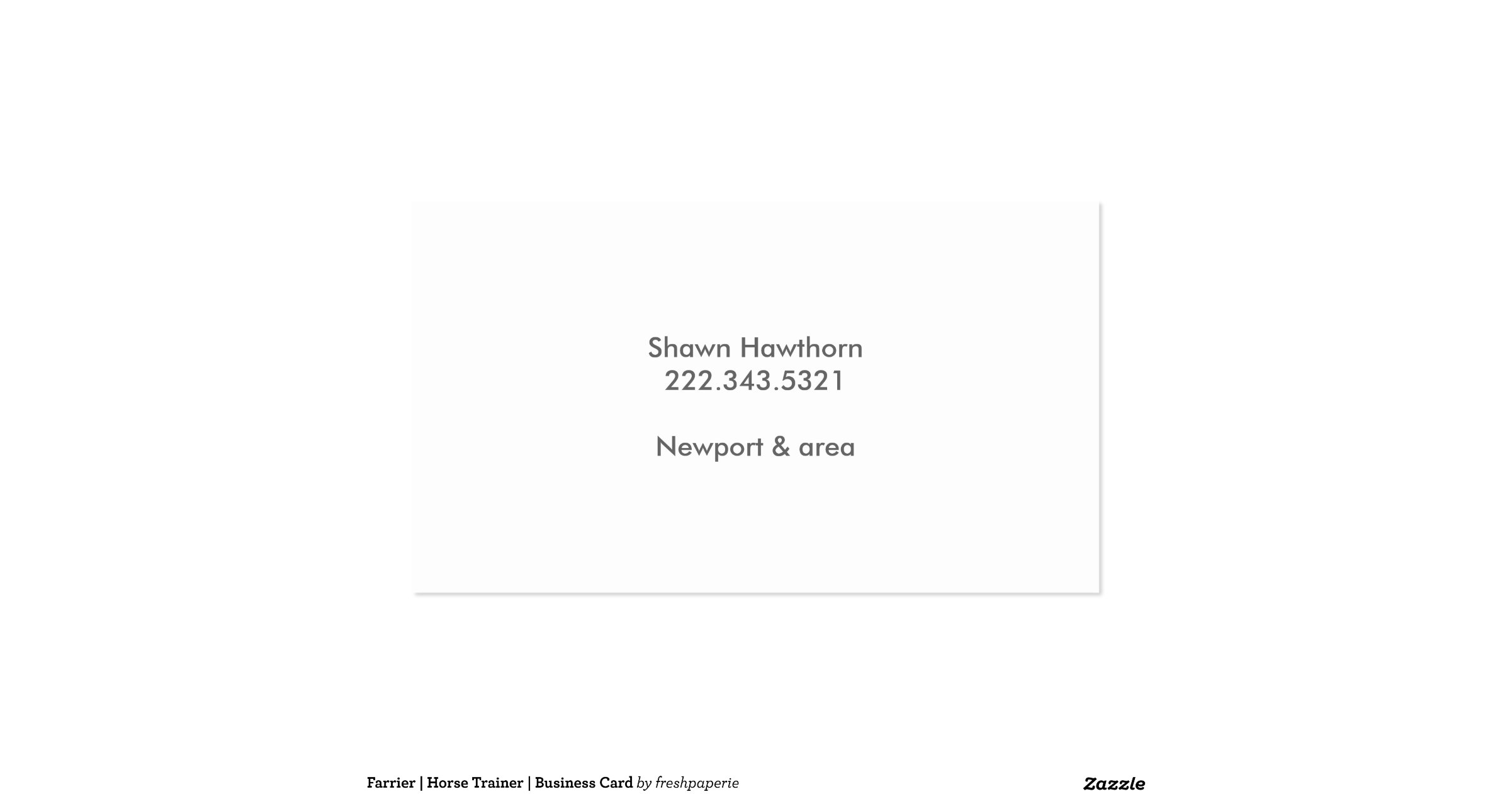 Farrier horse trainer business card zazzle for Horse trainer business cards