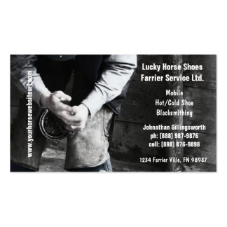 Farrier - Horseshoe Service Pack Of Standard Business Cards
