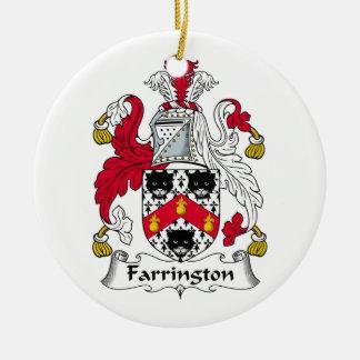 Farrington Family Crest Ceramic Ornament