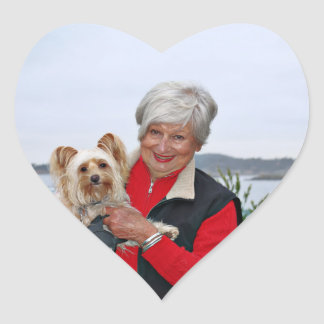 Farris - Lucy - Mixed Breed Heart Sticker