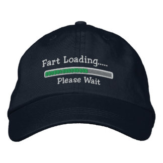 Fart Loading Please Wait Embroidered Hat