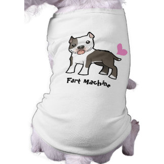 Fart Machine (Pitbull/Am Staffordshire Terrier) Sleeveless Dog Shirt