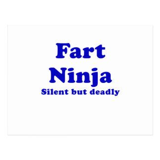 Fart Ninja Silent But Deadly Postcard