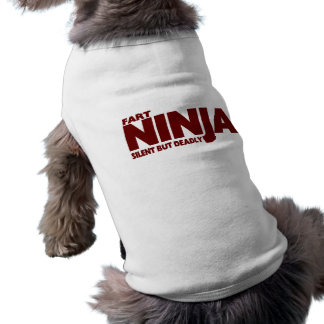 FART NINJA  ... Silent But Deadly ! Sleeveless Dog Shirt