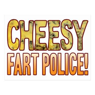 Fart Police Blue Cheesy Postcard