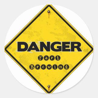 fartbrewing.jpg round sticker