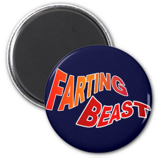 FARTING BEAST - hilarious innuendo humor Magnets