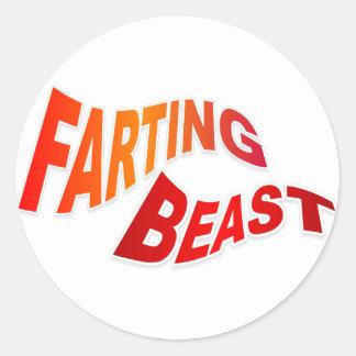 FARTING BEAST - hilarious innuendo humor Sticker