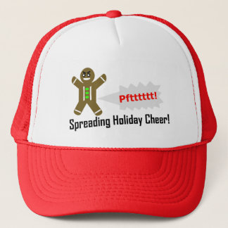 Farting Gingerbread Man - Christmas Baseball Cap