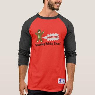 Farting Gingerbread Man Christmas Long T-shirt